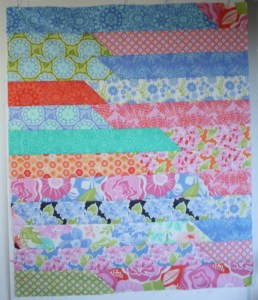 Jelly-roll Race Quilt