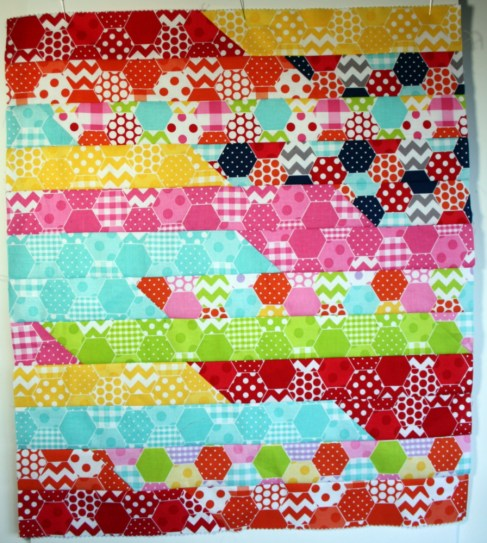 hexi jelly roll race doll quilt