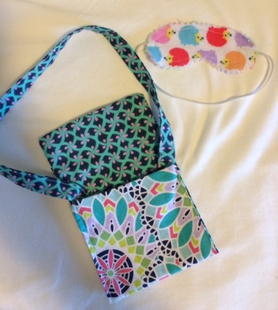 Marina Made these awesome accessories for her doll--Love those porcupines on her sleep mask!