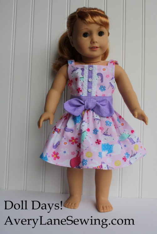 Doll Days Sundress variation for QM averylanesewing