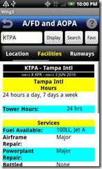 AFD facilities screen