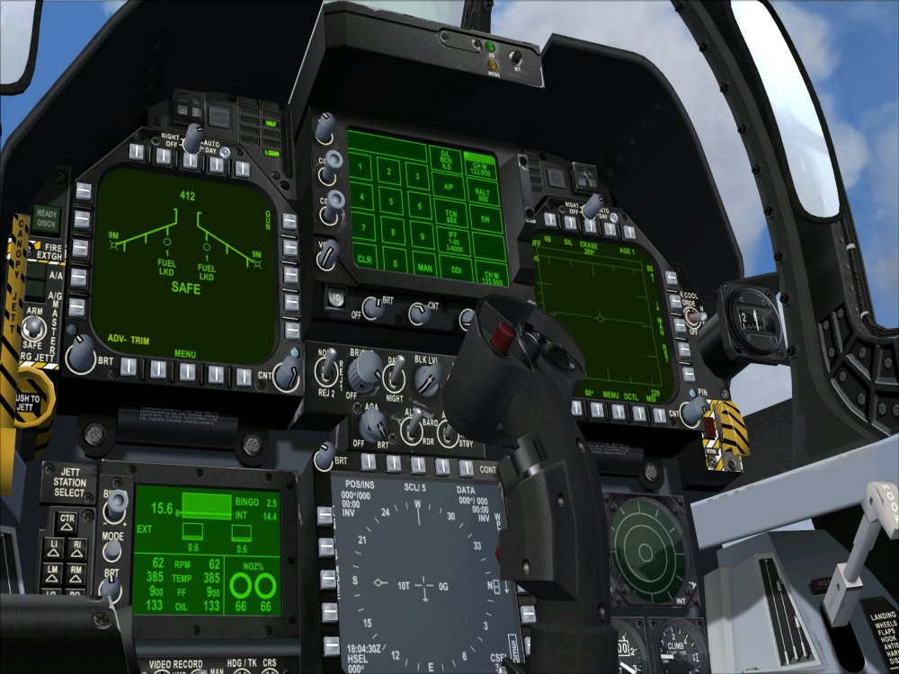 F 18 Cockpit From The F-14 To The F...