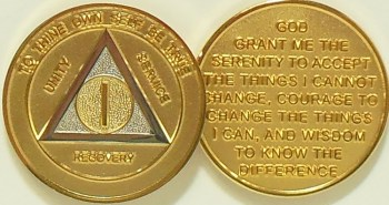 Alcoholics Anonymous Bi Plated Medallion