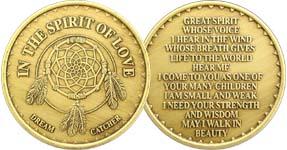 In The Spirit of Love Dream Catcher Bronze Medallion