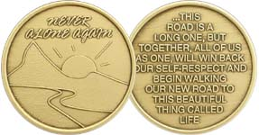 Never Alone Again Bronze Medallion