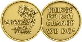 Powerless But Not Helpless Rose Bronze Medallion
