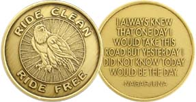 Ride Clean Ride Free Eagle Bronze Medallion