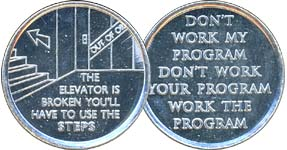 The Elevator is Broken Must Use The Steps Aluminum Medallion