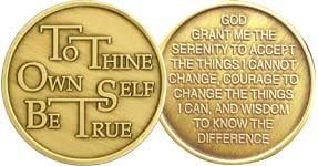 To Thine Own Self Be True Bronze Medallion