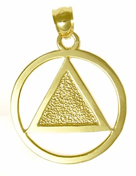 Alcoholics Anonymous 14K Gold Charm 13-1