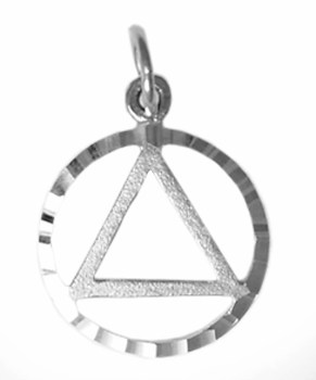 Alcoholics Anonymous Silver Charm 577-1