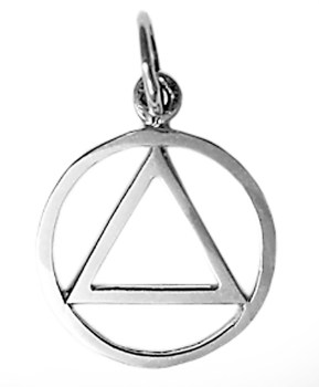 Alcoholics Anonymous Sterling Silver Charm 867-1