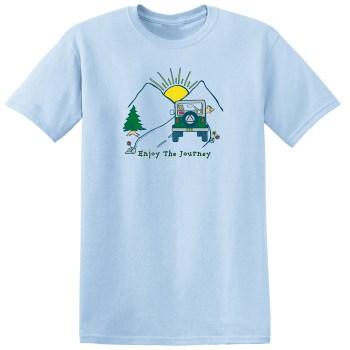 Enjoy The Journey Light Blue Tee Shirt