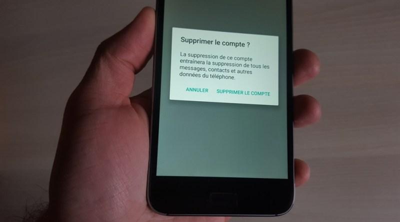 Comment supprimer un compte sur Android
