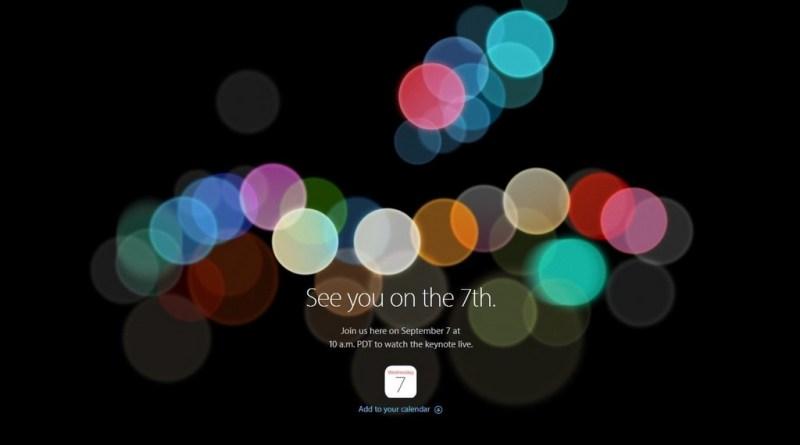 Apple Keynote 7 Septembre 2016