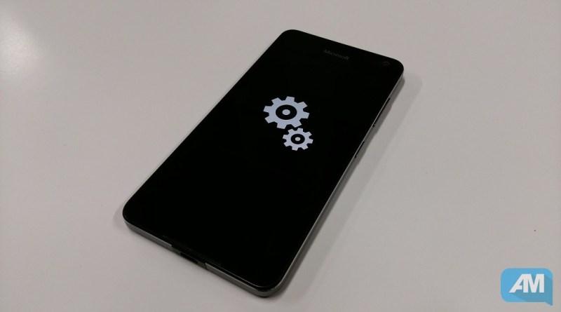 Microsoft Lumia 650 Mise à jour