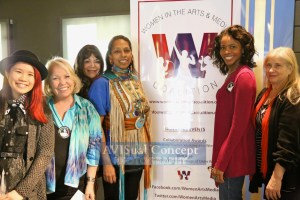 (L to R) leslie Shreve, Adriana Shaw (herFlix), Marie Ponce (NYWIFT), Avis Boone & Shellen Lubin(Co-Presidents, Women in the Arts & Media Coalition)