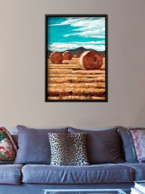 September Harvest canvas print interior display - close up.