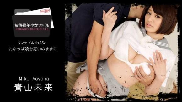 青山未来 放課後美少女ファイル No.15~おかっぱ娘を思いのままに~ パケ写