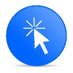 click here blue circle web glossy icon