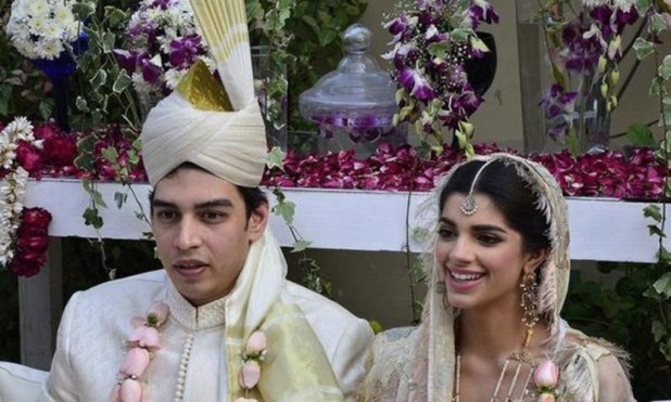 Sanam Saeed and Her Husband Farhan Hasan on Their Barat Pictures