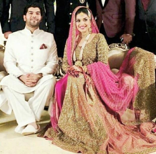 sanam jung wedding pics with husband awam pk