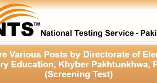 KPK Directorate of Elementary and Secondary Education NTS jobs