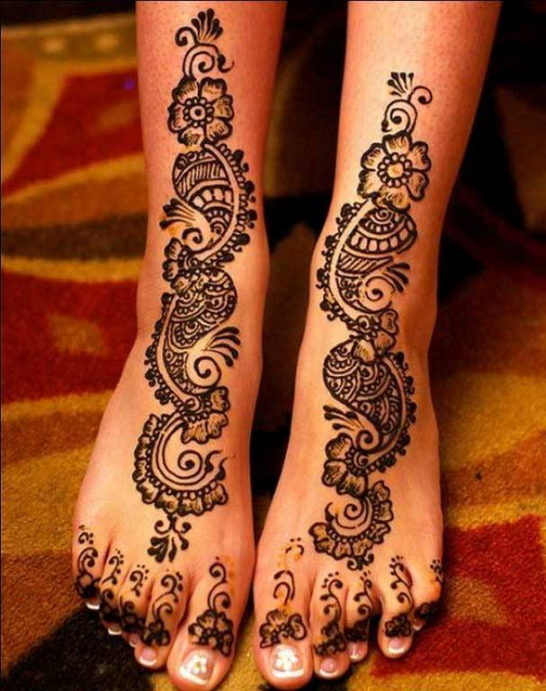 Mehndi Designs For Legs New : Latest new mehndi designs for wedding ceremony