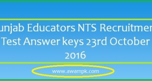 nts Educators answer key 23rd october 2016