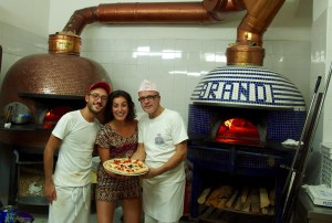 Pizza making in Naples, Italy