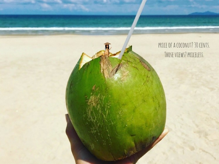 price of a coconut- 30 cents.Those views- priceless. (8)