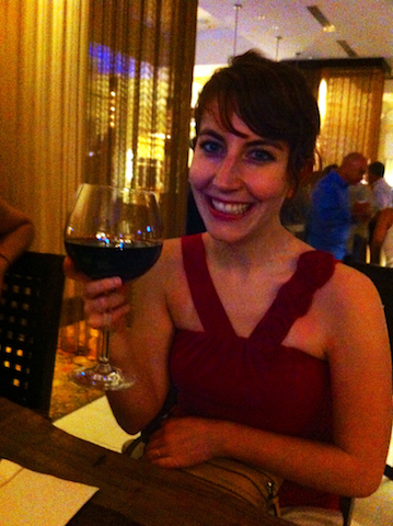 You can drink huge glasses of wine at the hotel at the end of the day without judgement.