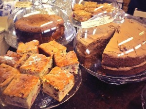 Relax with coffee and a piece of delicious homemade cakes