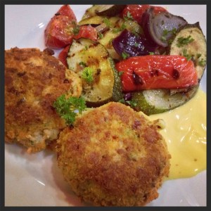 Salmon fishcakes - a healthy family meal from tinned salmon.