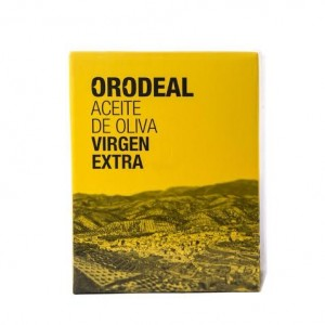 Orodeal Gold - available in a 3 litre box, vacuum packed to protect the oil from exposure to light and air.