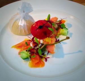 Confit of Scottish salmon