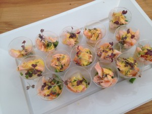Delicious salmon tasters from chef Martin Ewart