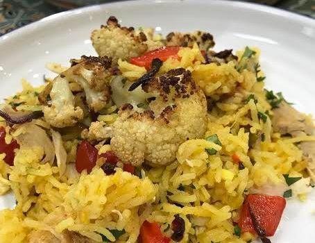 Chicken Biryani with Roasted Cauliflower