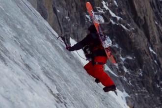 Snowboard on ice