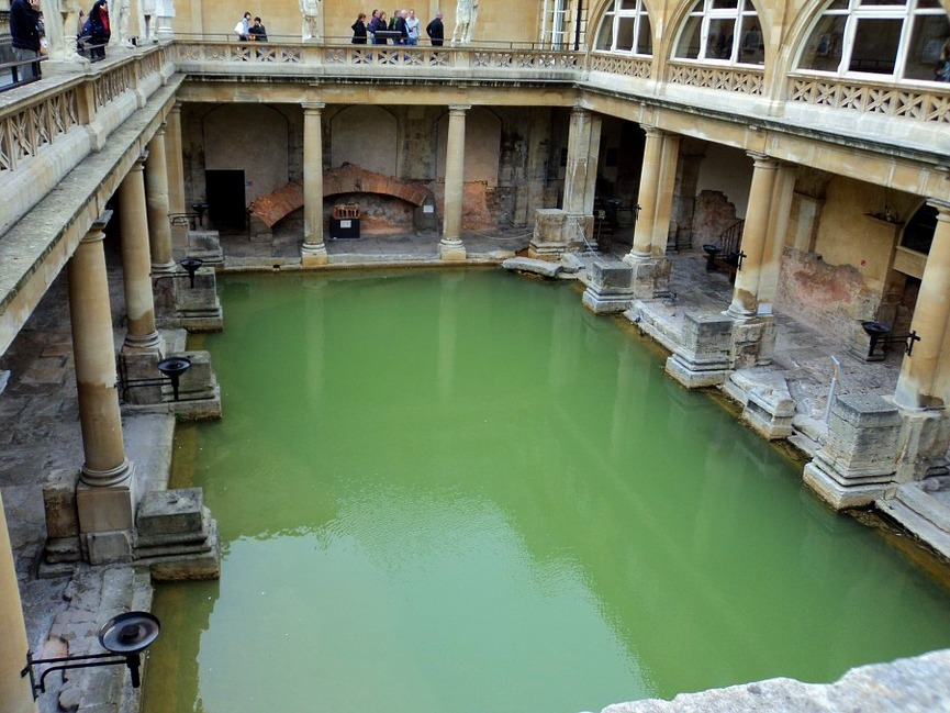 Known for natural hot springs, Bath is a relaxing weekend trip from Amsterdam.