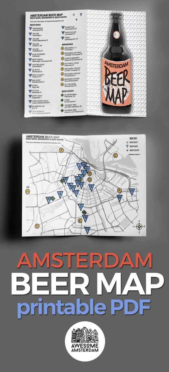 AMSTERDAM BEER MAP AD LONG