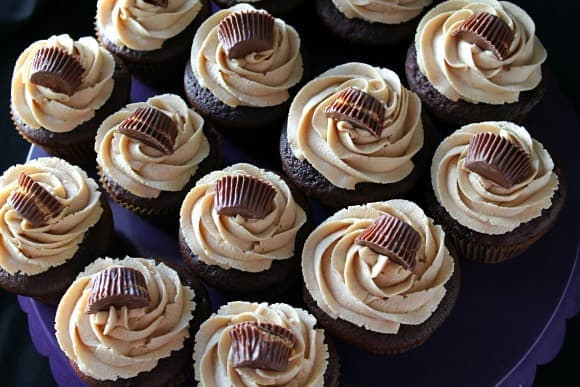 Semi-Homemade Chocolate Peanut Butter Cupcakes | How to be Awesome on $20 a Day