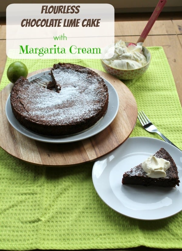 Flourless Chocolate Lime Cake with Margarita Cream | How to be Awesome on $20 a Day