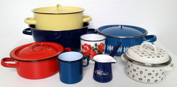How To Clean Vintage Enamelware