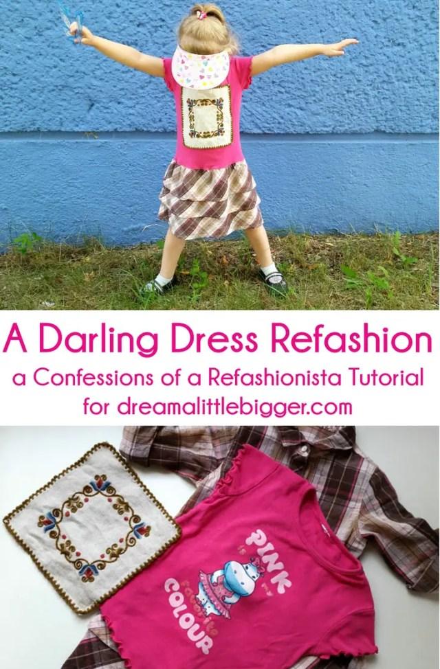 darling dress refashion header
