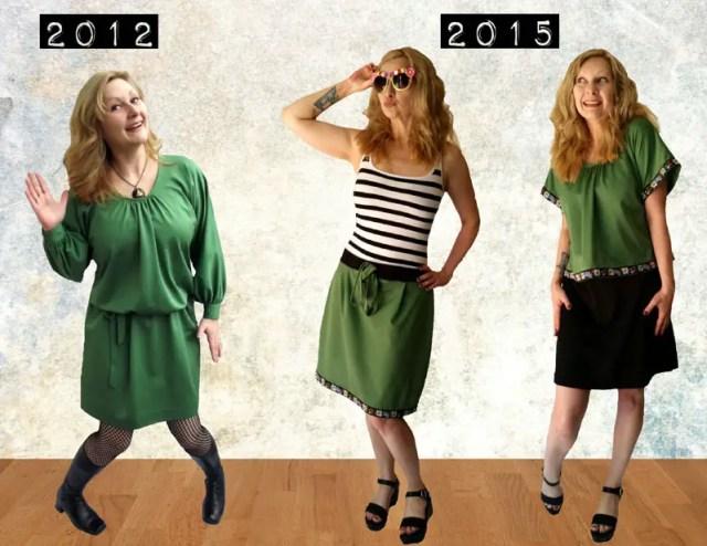 vintage dress refashion tutorial