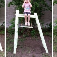 my DIY upcycled ladder climbing frame + trapeze