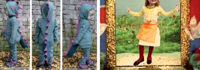diy dinosaur and fairy tale costumes