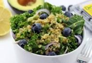 Blueberry Kale Freekeh Salad
