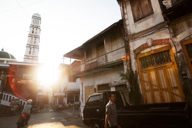 Pasar Pabean Sunset Masjid Serang